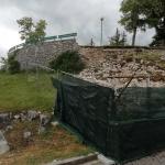 Muro a secco crollato